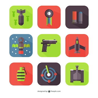 Flat weapons vectors