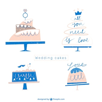 Flat Wedding Cakes Collection