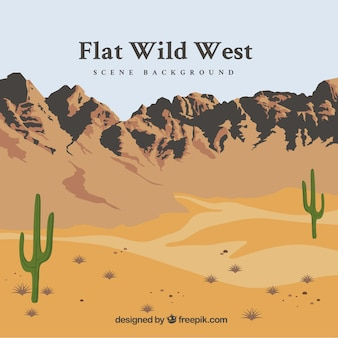 Flat wild west background