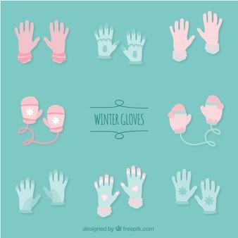 Flat Winter Gloves Set