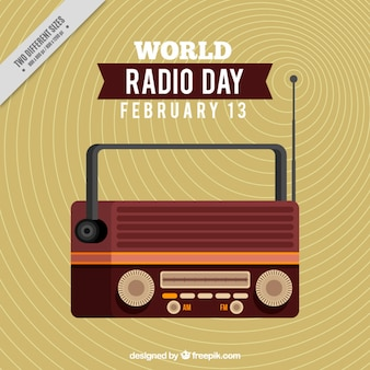 Flat world radio day background