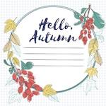 Floral autumn frame