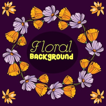 Floral background design
