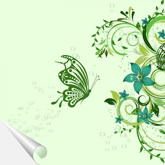 Цветочный дизайн фона