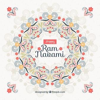 Floral background for ram navami celebration