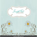 floral background in mint color