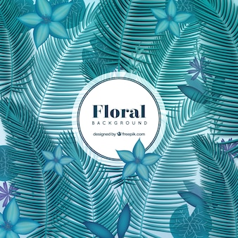 Floral background in tropical style