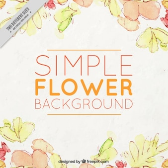 Floral background in warm colors