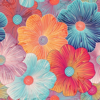 Floral background with big flowers