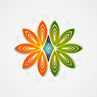 Floral background with colors of indian flag