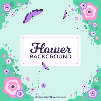 Floral background with lovely style