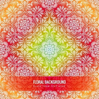 Floral background with mandala