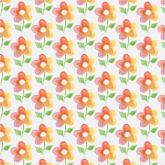 Floral background with watercolor flower