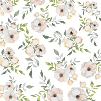 Floral background with watercolors