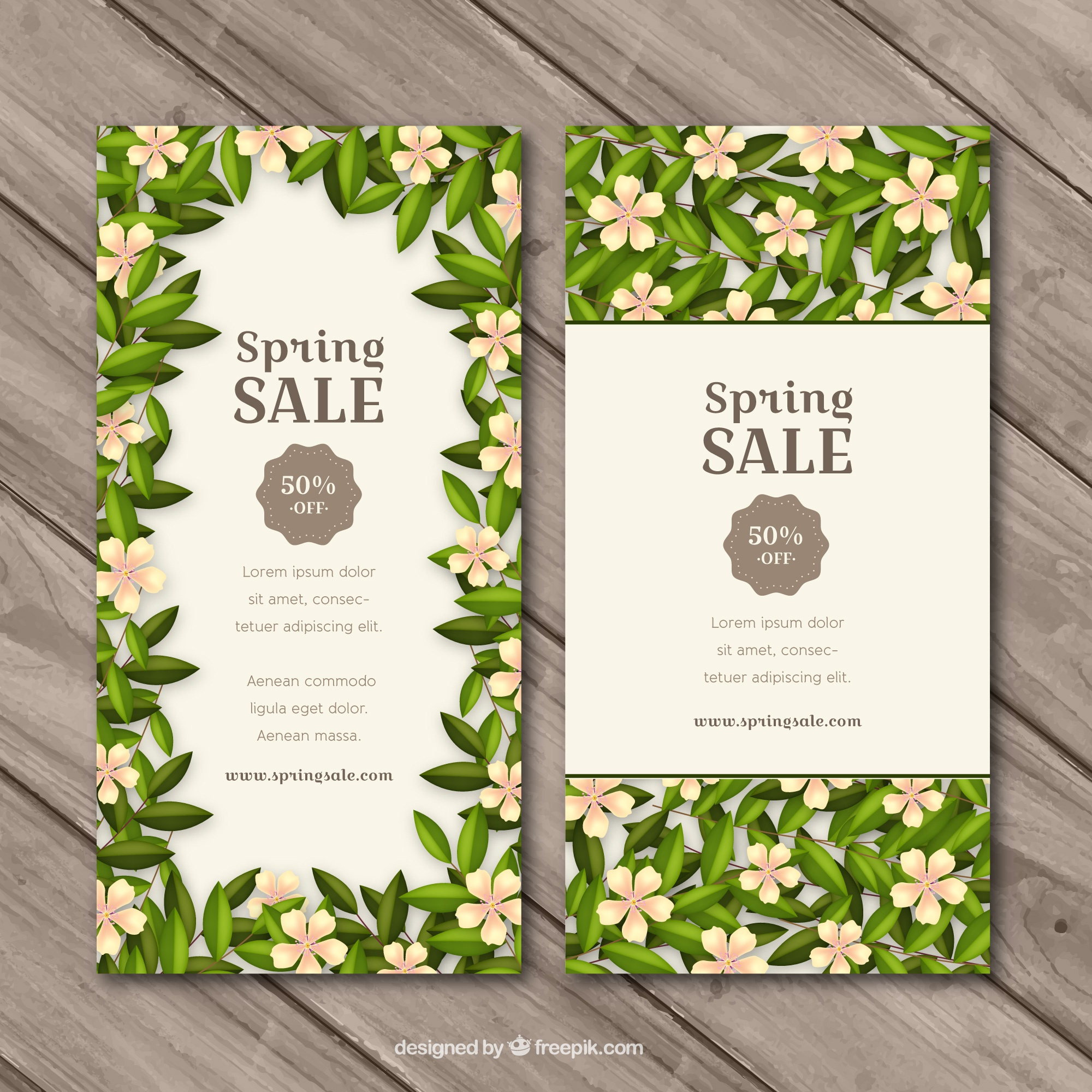 Floral banners for spring sale