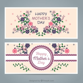 Floral banners mother's day