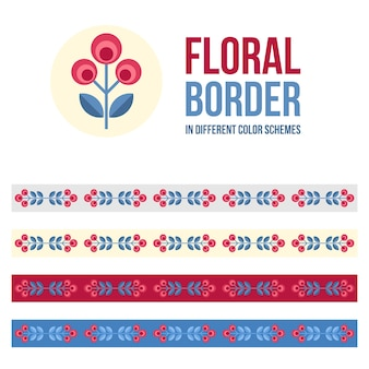 Floral border collection