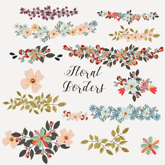 Floral borders collection
