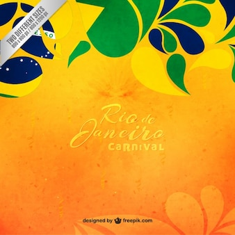 Floral Brazil carnival background