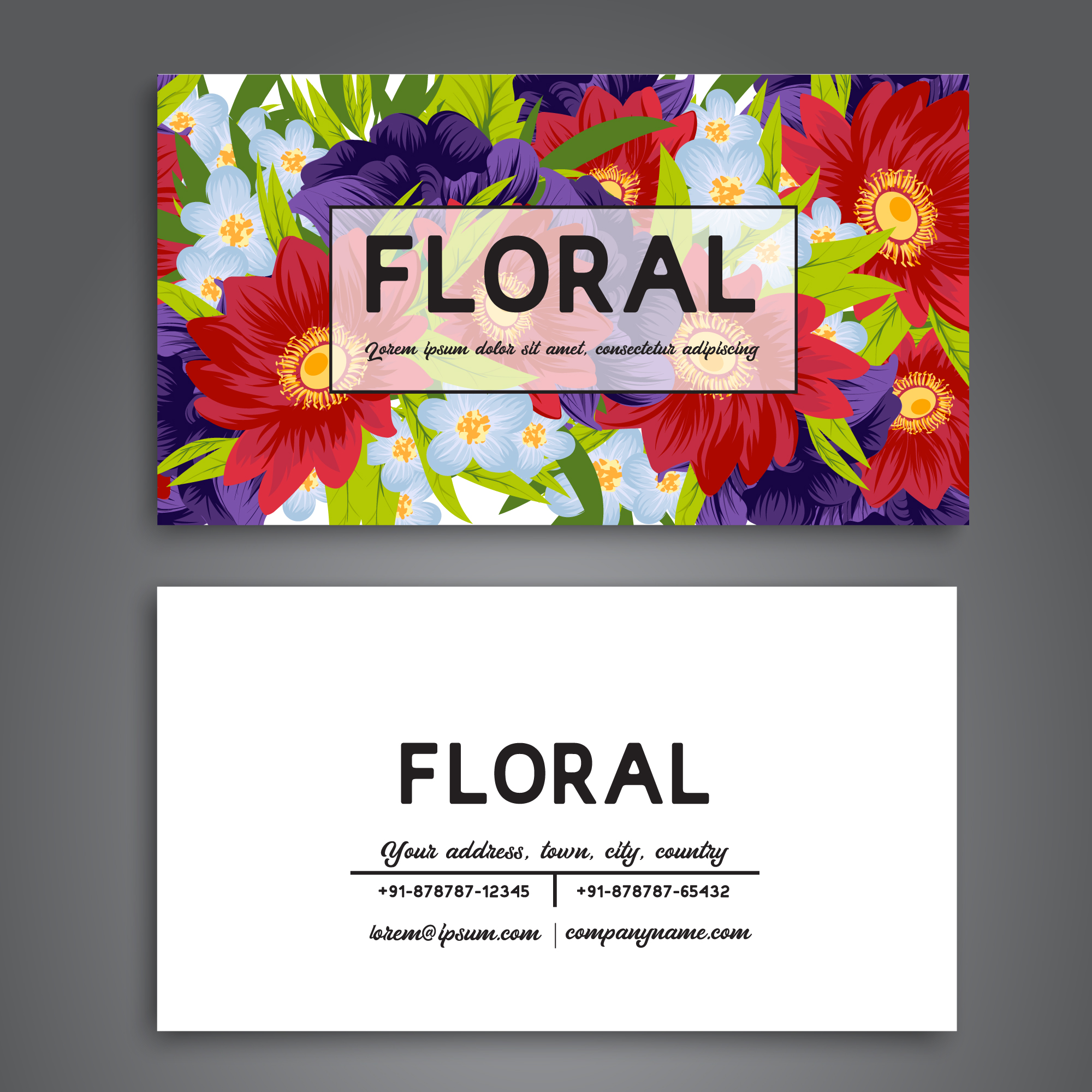 Floral business card