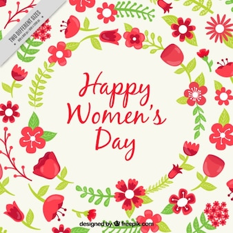 Floral card of Womens Day