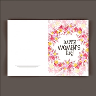 Floral card ready for women's day