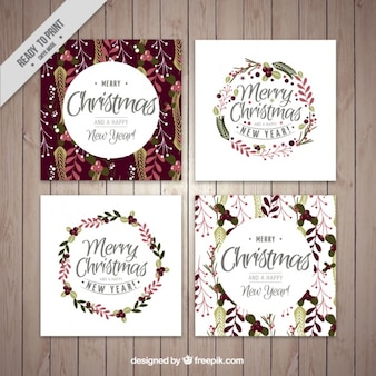 Floral christmas card collection