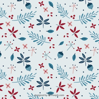 Floral christmas pattern