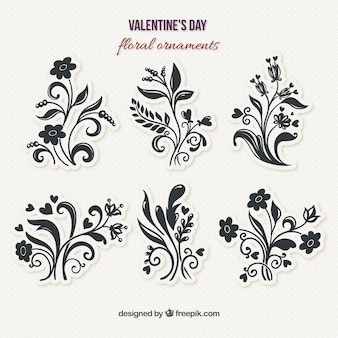 Floral decorative ornaments pack