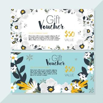 Floral discount voucher