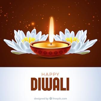 Floral diwali background