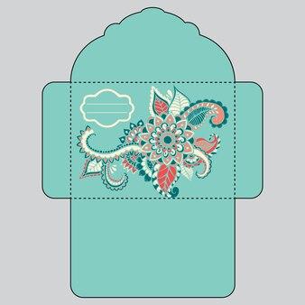 Floral envelope design