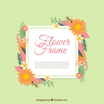 Floral frame background with daisies