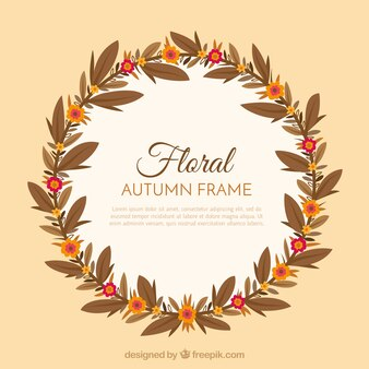 Floral frame with autumnal style
