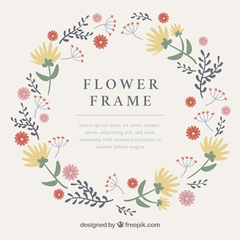 Floral frame with classic style