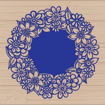 花のフレームの設計