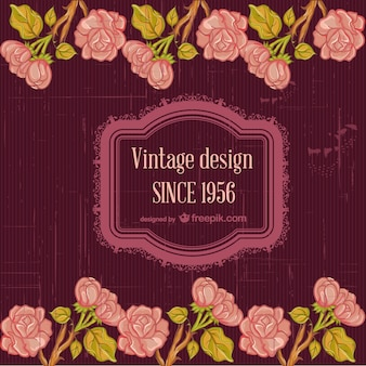 Floral free greetings invite card
