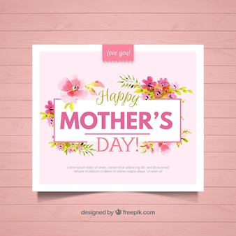 Floral greeting card for mother's day