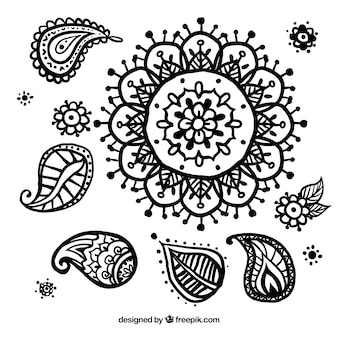 Floral hand drawn decoration