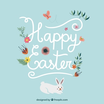 Floral happy Easter background