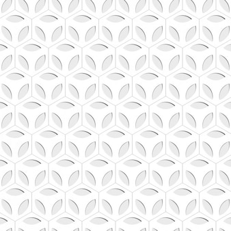 Floral hexagon background