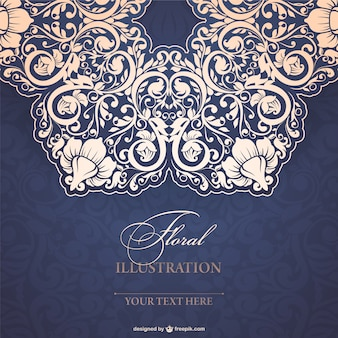 Floral lace illustration