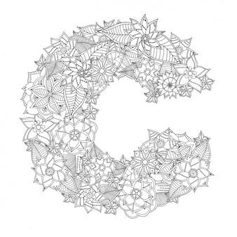 Floral letter design