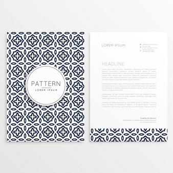 Floral letterhead template