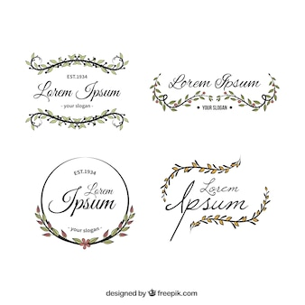 Floral logo template collection