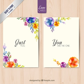 Floral love cards