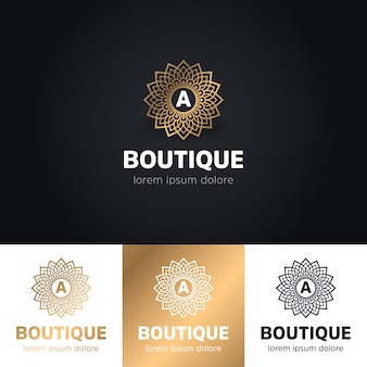 Floral luxury boutique logo