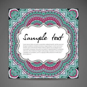 Floral mandala illustration with space for text