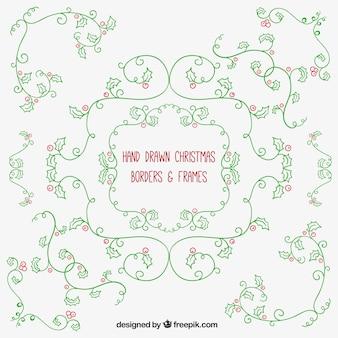 Floral mistletoe ornaments