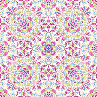 Floral mosaic with pink details